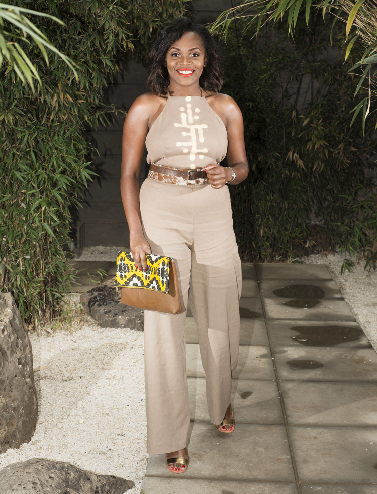 The look is accessorised with a leather & ankara clutch from Biika from Uganda.