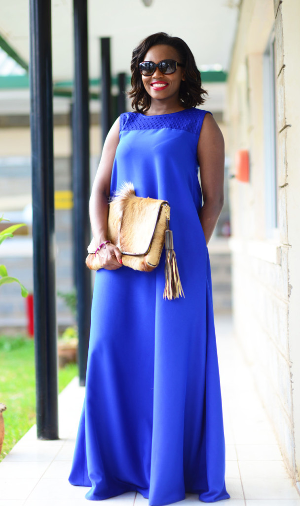 This beautiful royal blue dress is from Kwesh Uganda by Juliana Nasisira. The dress is from her 2015 collection unafraid.