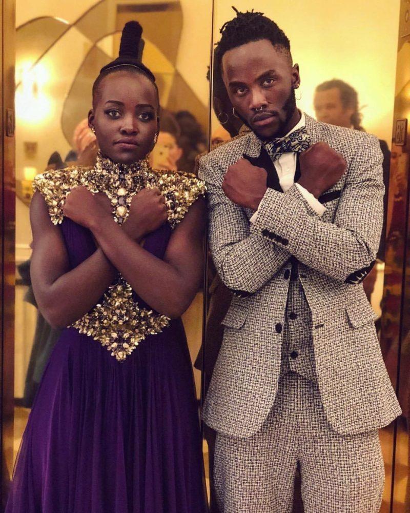 Junior Peter Nyongo Premiere of Black Panther